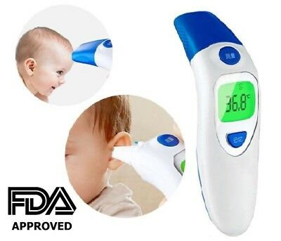 LCD Digital Baby Forehead and Ear Thermometer IR Infrared FDC APPROVED