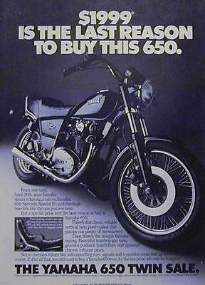1982 YAMAHA  2 Page Motorcycle Ad 650 HERITAGE SPECIAL