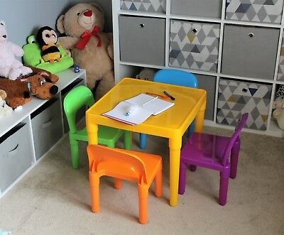 Table and Chairs Set Large Childrens Plastic - Kids Toddlers Childs - Gift
