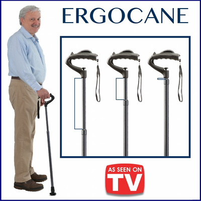 Light Walking Stick Fully-adjustable Ergonomic Mobility Aid Cane Carbon Checkers