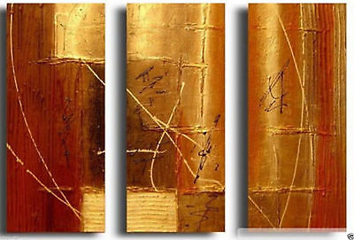 ZWPT335 3pcs Abstract Wall Art 100% Hand Painted Modern Oil Painting On  Canvas