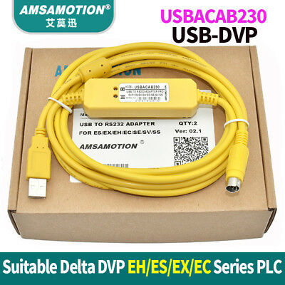 USBACAB230 USB-DVP Programming Cable USB TO RS232 Adapter For Delta DVP PLC