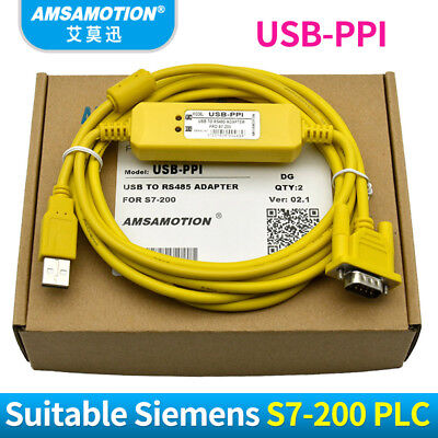 USB-PPI For Siemens S7-200 PLC Programming Cable USB To RS485 Adapter WIN7 XP