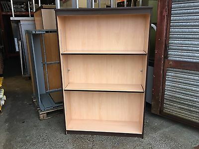 Office Bookcase Beech 2 Adjustable Shelves
