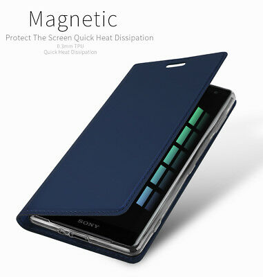 Dux Ducis For Sony Xperia XZ2 PU Leather Flip Case Wallet Smart Magnetic Cover