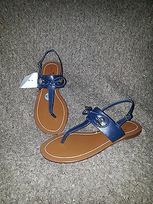 80e268905 KATE SPADE NEW York-Carolina-Thong Sandals-Navy Blue Leather-Sz 7.5 ...