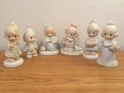 The Enesco Precious Moments Collection Figurines Lot of Six