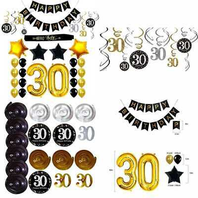 30Th Birthday Decorations Party Supplies For Him Her Sash Happy Banner 30 Gold N