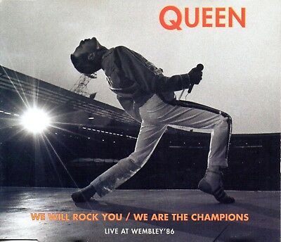 Queen ‎– We Will Rock You / We Are The Champions (Live At Wembley '86) CD Maxi-S