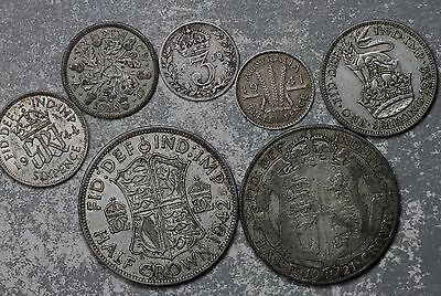 Seven (7) Great Britain and Australia Silver Coins!!