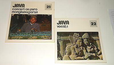 Java - 2 LPs - Vocal II - Concert Au Puro Mangkunagaran - Galloway