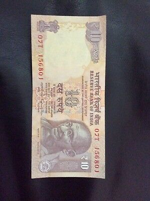 New India 10 Rupees bank note 2014 Gandhi Rhino Elephant Tiger Fast shipping