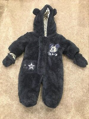 Brand New Genuine Disney Baby Pram Suit / Snow Suit Newborn Size In Navy