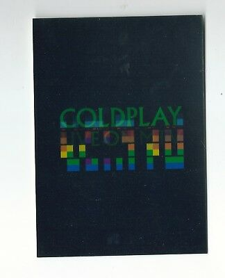 COLDPLAY Holographic 3D effect Promo Postcard / Unused