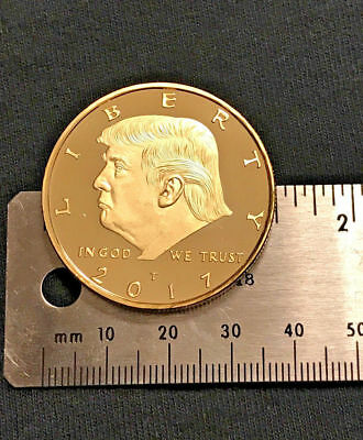 President Donald Trump  Golden EAGLE Commemorative Hobo coin