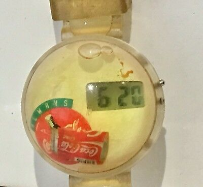 Coca Cola Coke Bubble Floating Bottle Digital Watch