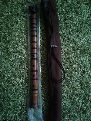 """Antique 1.8 """"monk"""" shakuhachi refurbished by Perry Yung"""