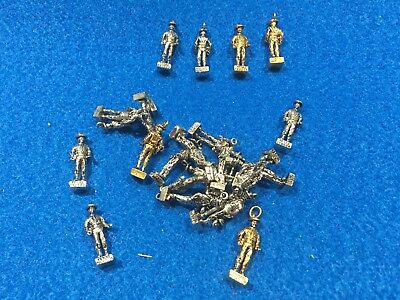 Lot of 24 1970's Vintage Texas Ranger Metal Charms