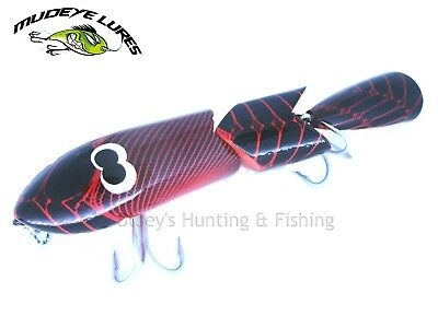 Timber Mudeye Lure jointed Cod rattle snake surface Lure col;red
