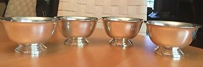 VINTAGE REED & BARTON PAUL REVERE Silver Plated Small Bowls - Lot of 4