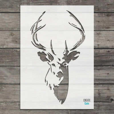 Deer STENCIL Stag Template Antlers Wall Art Painting Mylar Create Cuts Design