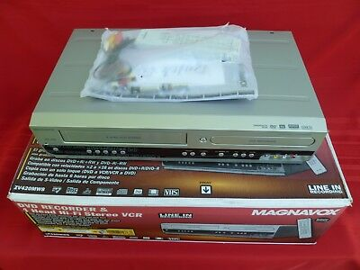 MAGNAVOX ZV420MW8 DVD/VCR Combo Recorder with Remote & Manual