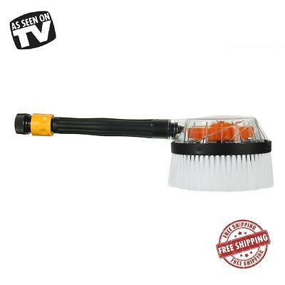 Car Pressure Wash Brush Powered By Water Vehicle Care Washing Cleaning Tool