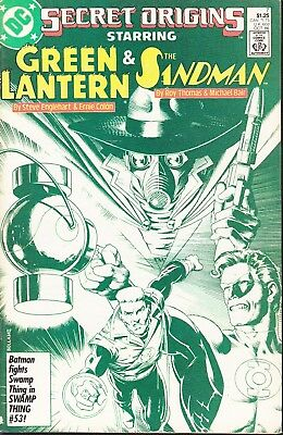 Secret Origins  #7 1986 Dc -Green Lantern/ Sandman- Thomas/ Colon...fn+