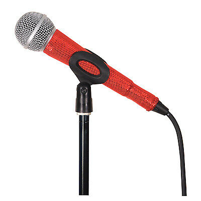 MicFx Corded Microphone Sleeve Laser cut Range (Colour Red)