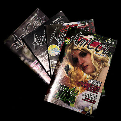 (x4) ANICOZ CosPlay MAGAZINES Anime Cons Costume Guide Interviews reviews photos