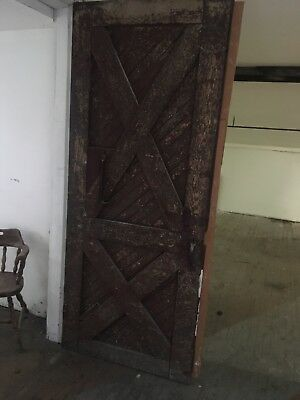 Vintage WOOD BARN DOORS (2) wooden antique architectural salvage farm house