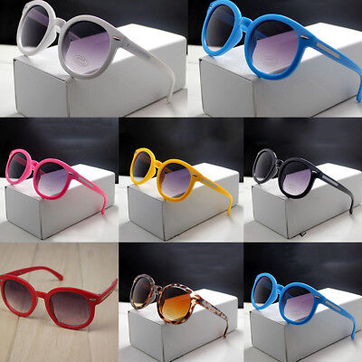 Retro Eyewear Children Boys Girls Chic Glasses UV 400 Round Sunglasses Big Hot