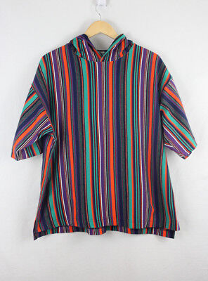 90's  Striped Hooded T-shirt