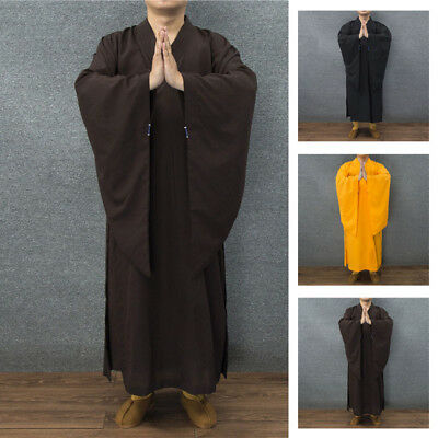 New *Buddhist Monk Dress Meditation Haiqing Robe Kung fu Suit Costumes Smooth