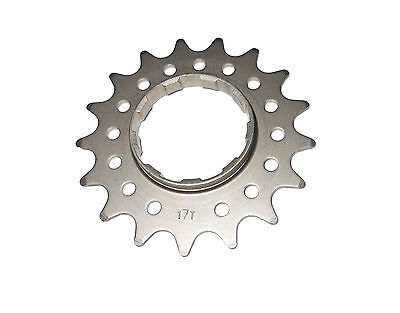 Single Speed Bicycle Rear Cassette Cog Shimano/SRAM Splined Chrome 16Th or 17Th