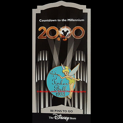 Disney Store Countdown To The Millennium Pin #81 Tinker Bell 1953 Pixie Dust