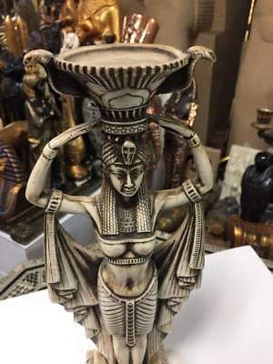 Unique Egyptian Goddess Isis Statue Hand Carved  Made in Egypt