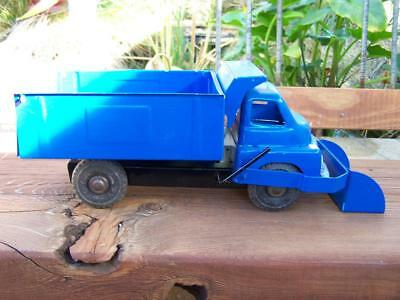 1950's 34cm long Wyn Toy tin plate tipper truck with front end loader