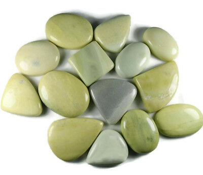 Natural Yellow Serpentine Mix Size & Shape Cabochon Loose Gemstone Wholesale Lot