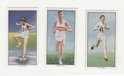 Athletic Cards -Ken Norris, Gordon Pirie, John Disley