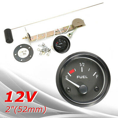 6pcs Car SUV DC 12V Fuel Level Gauge Meter w/ Fuel Sensor easy E-1/2-F Pointer