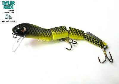 Taylor Made Rattling Reptile 180mm cod surface wake bait jointed Lure ;Tai
