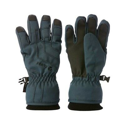 NEW Elude Boy's Icon Ski Gloves Size 08, Charcoal from Rebel Sport