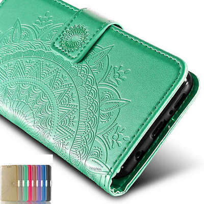 For Samsung Galaxy S9 S8 Plus Flip Leather Card Wallet Stand Pattern Case Cover