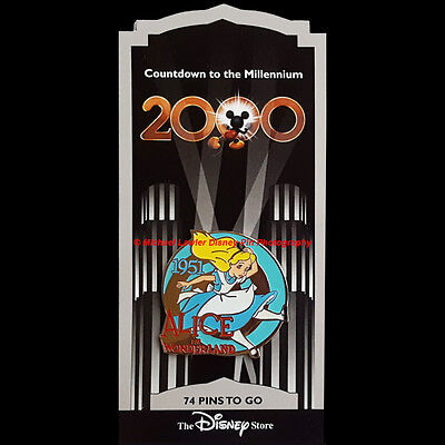 Disney Store Countdown To The Millennium Pin #75 Alice In Wonderland 1951