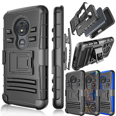 For Motorola Moto G6 Play XT1922/G6 Forge Belt Clip Holster Armor Kickstand Case