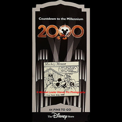Disney Store Countdown To The Millennium Pin #65 First Mickey Mouse Comic Strip