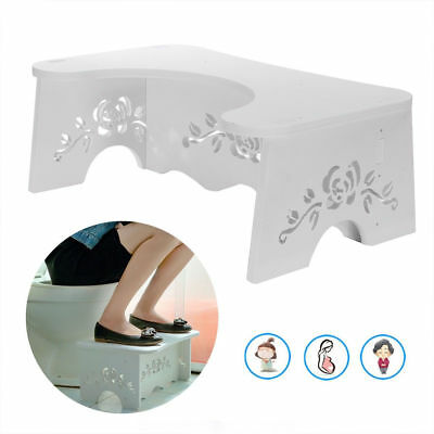 Squatty Toilet Potty Stool Footstep Bathroom Stand Aid Constipation Piles Relief