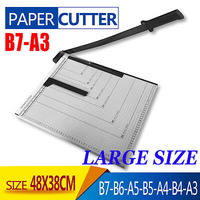 A3 To B7 Paper Photo Cutter Guillotine Trimmer Knife Metal Base Portable Card