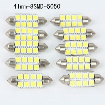 Universal 41mm-8smd-5050 Weiß Auto Dome Feston Led-lampen DC12V led 10* NP2